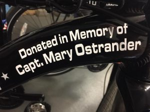 In memory of Captain Mary Ostrander